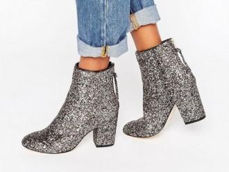 Ботинки на каблуке в Асос