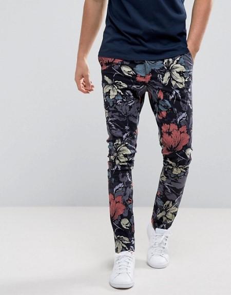 Мужские брюки с цветочным принтом | ASOS