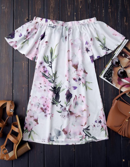 Платье с открытыми плечами | Zaful