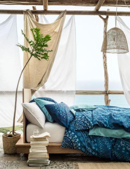 Постельное белье в стиле «шибори» | H&M Home