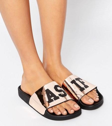 Бронзовые сандалии TheWhiteBrand | ASOS