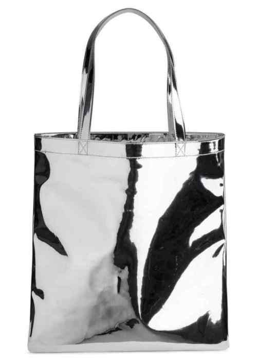 Металлизированная сумка-шопер | H&M