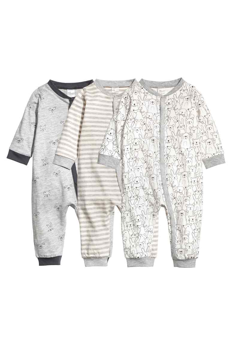 Комплект из 3х пижам для малыша | H&M