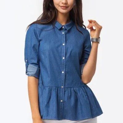 Женские джинсовые рубашки в Ламода