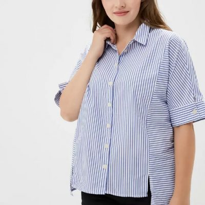 Женские рубашки с коротким рукавом в Ламода